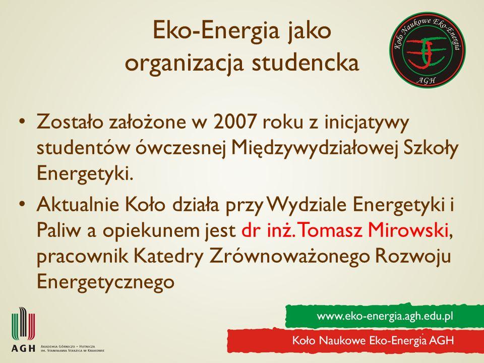 Eko-Energia jako organizacja studencka