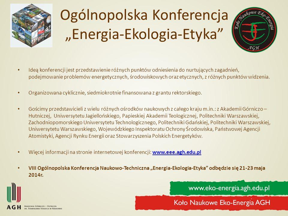 "Ogólnopolska Konferencja ""Energia-Ekologia-Etyka"