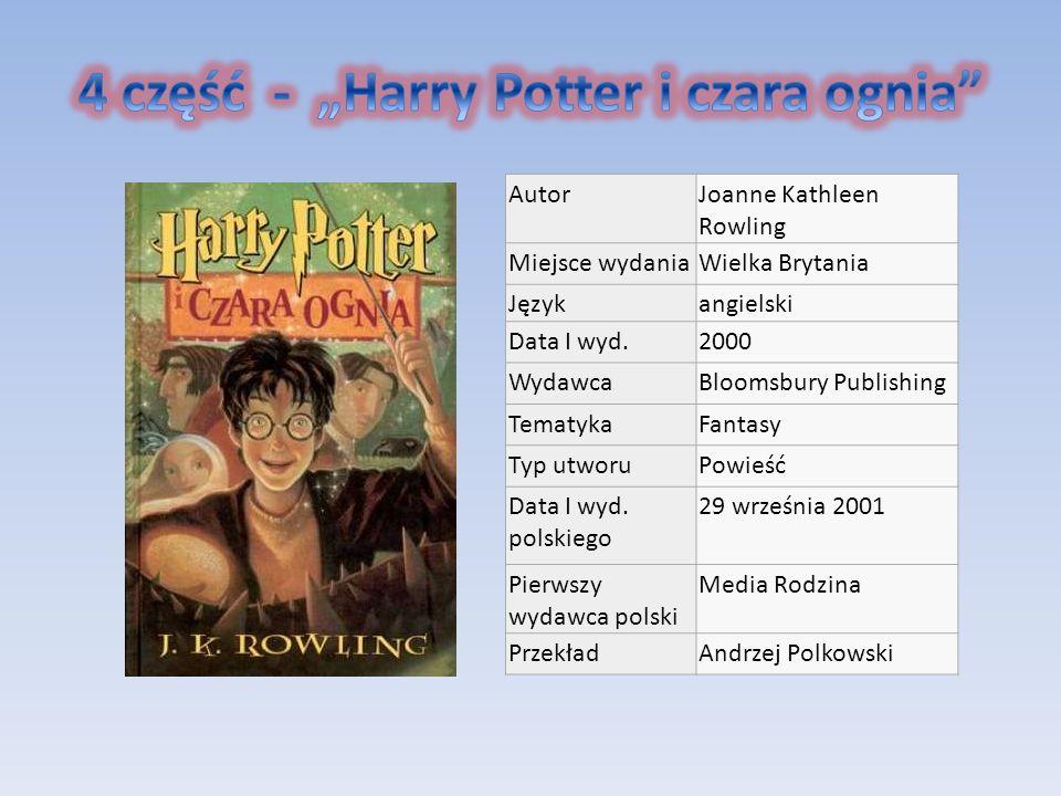 """4 część - """"Harry Potter i czara ognia"""
