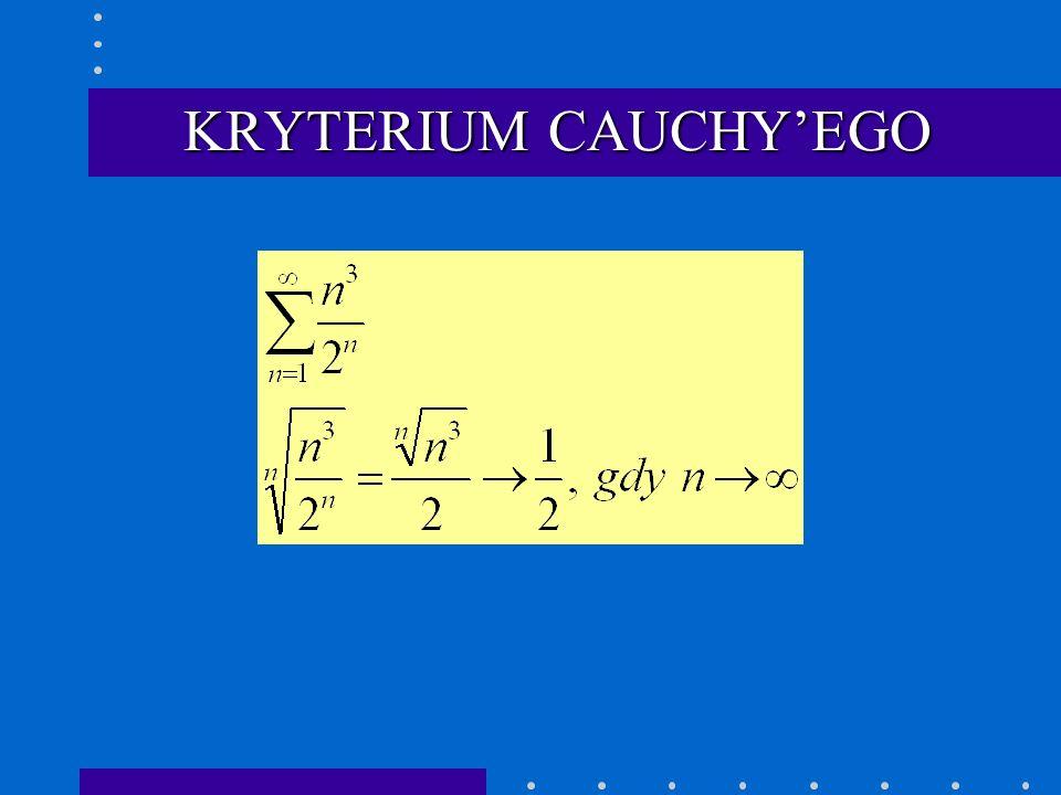 KRYTERIUM CAUCHY'EGO