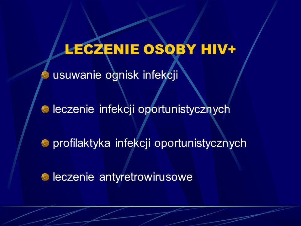 LECZENIE OSOBY HIV+ usuwanie ognisk infekcji