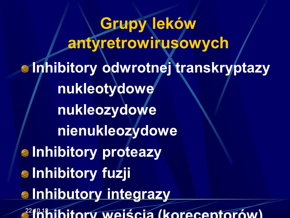 Grupy leków antyretrowirusowych
