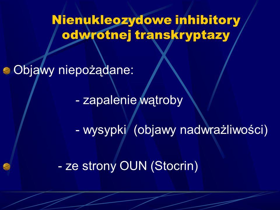 Nienukleozydowe inhibitory odwrotnej transkryptazy