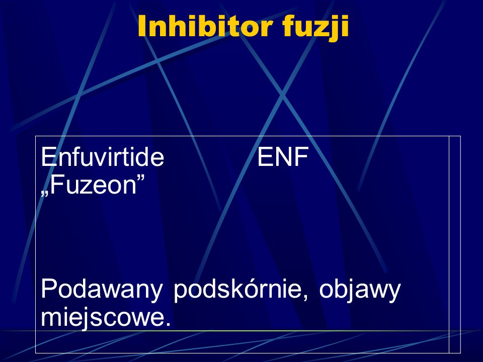 """Inhibitor fuzji Enfuvirtide ENF """"Fuzeon"""