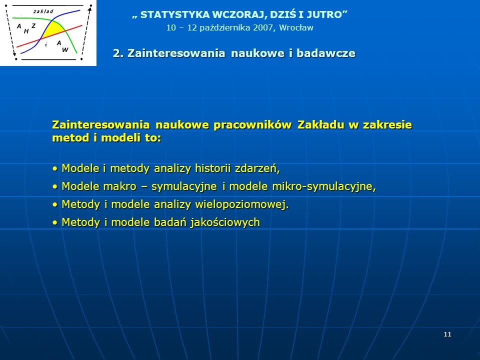 2. Zainteresowania naukowe i badawcze