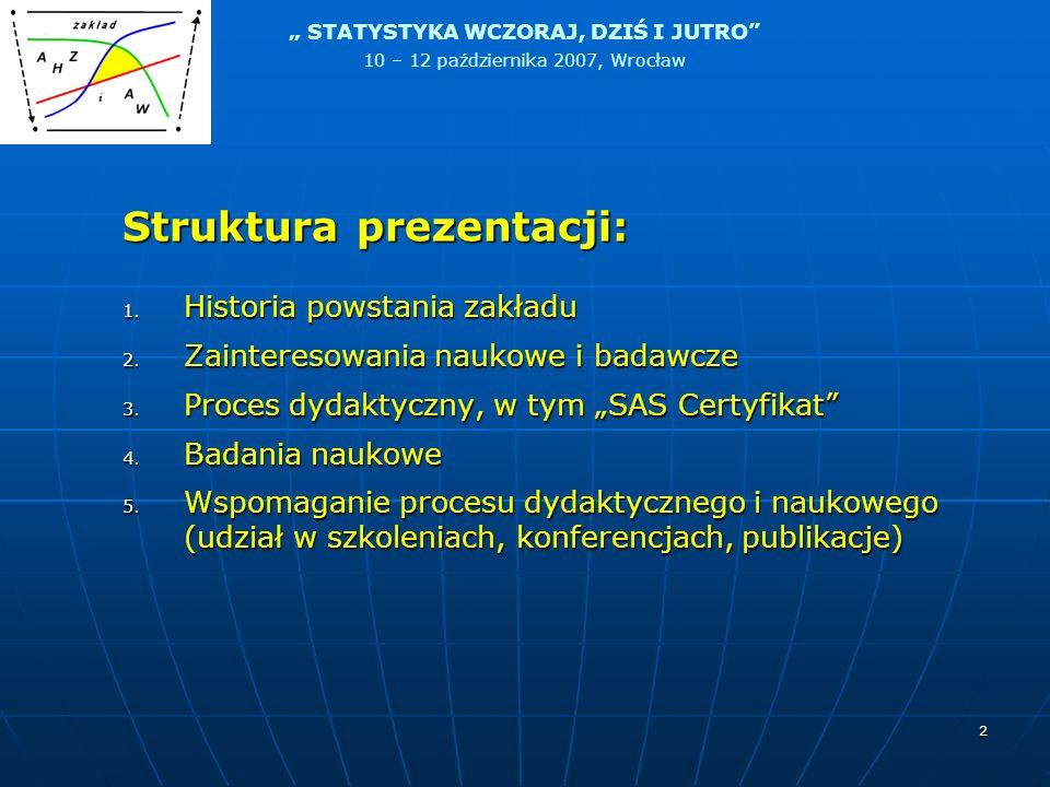 Struktura prezentacji: