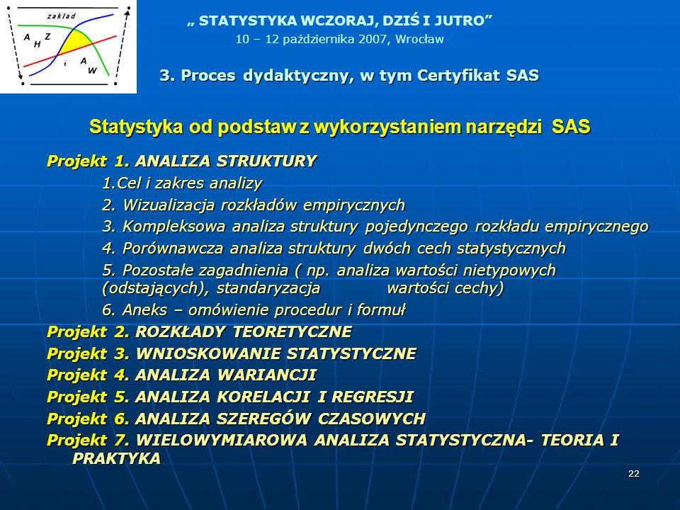 Statystyka od podstaw z wykorzystaniem narzędzi SAS