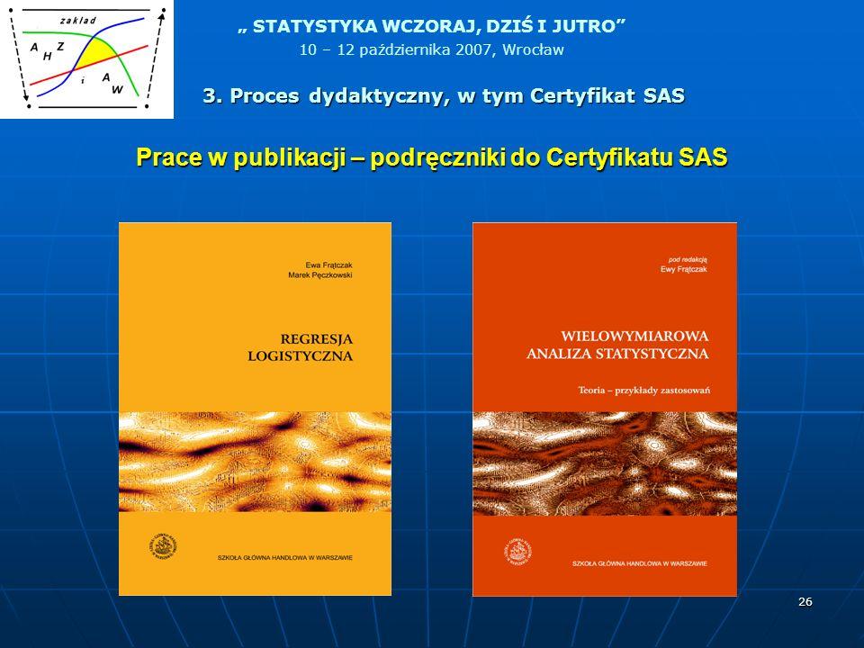 Prace w publikacji – podręczniki do Certyfikatu SAS