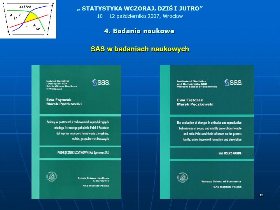 SAS w badaniach naukowych