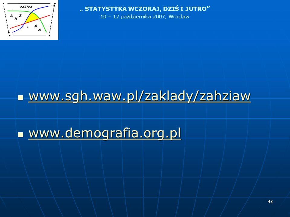 www.sgh.waw.pl/zaklady/zahziaw www.demografia.org.pl