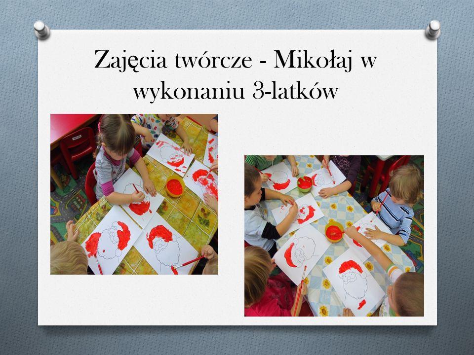 Zajęcia twórcze - Mikołaj w wykonaniu 3-latków