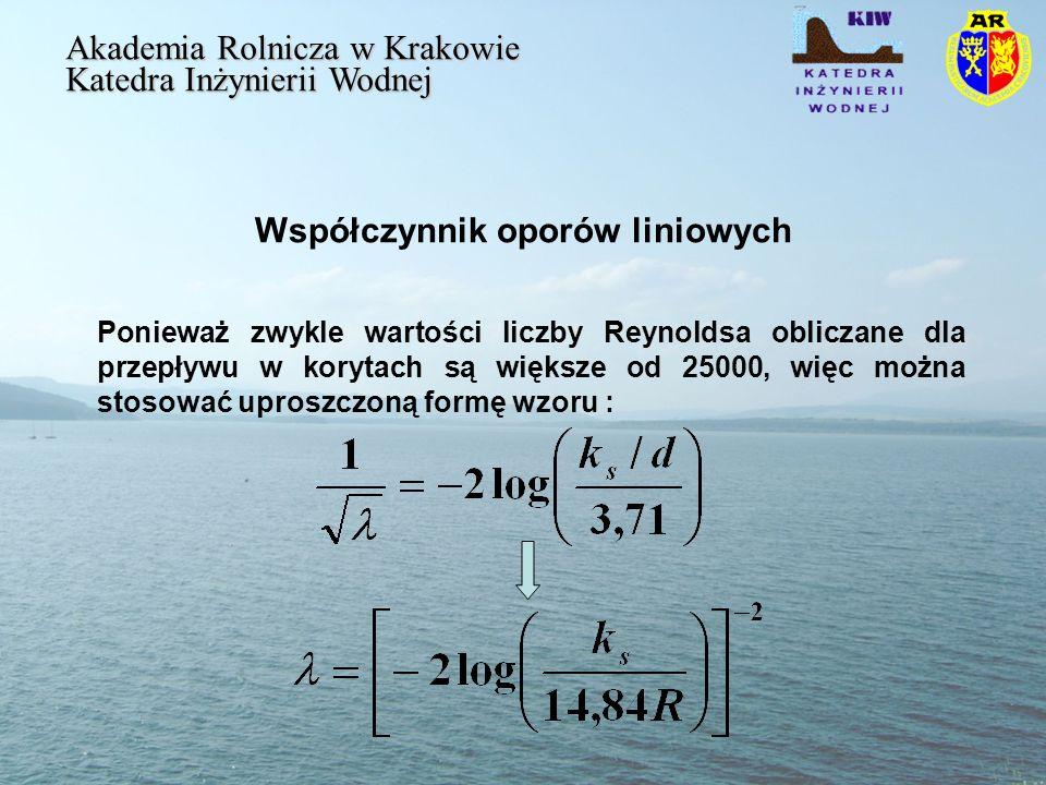 Współczynnik oporów liniowych