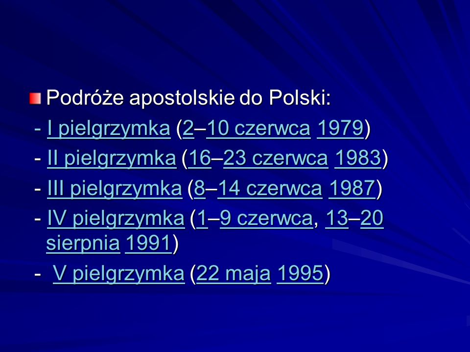 Podróże apostolskie do Polski: