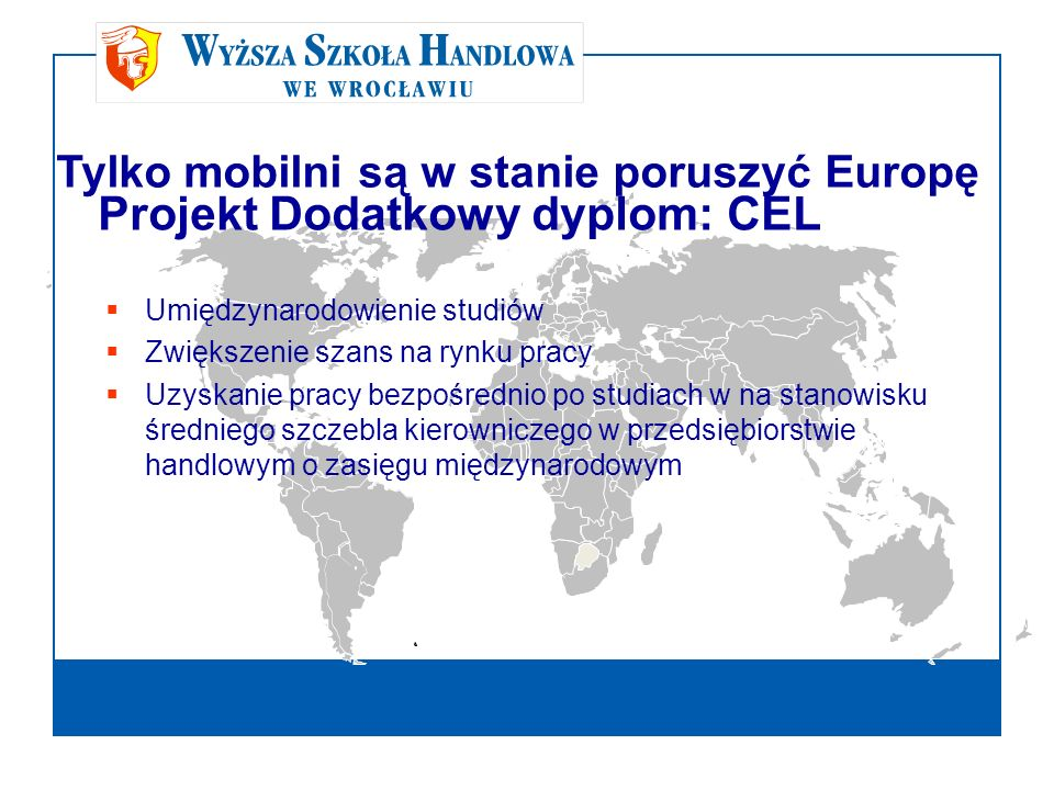 Projekt Dodatkowy dyplom: CEL