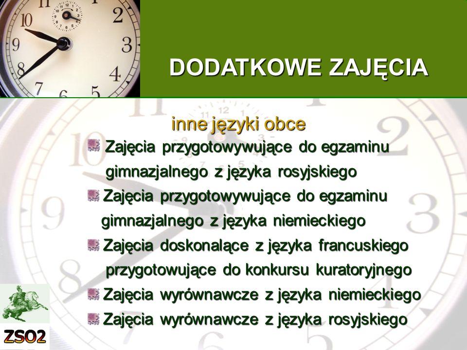 DODATKOWE ZAJĘCIA inne języki obce
