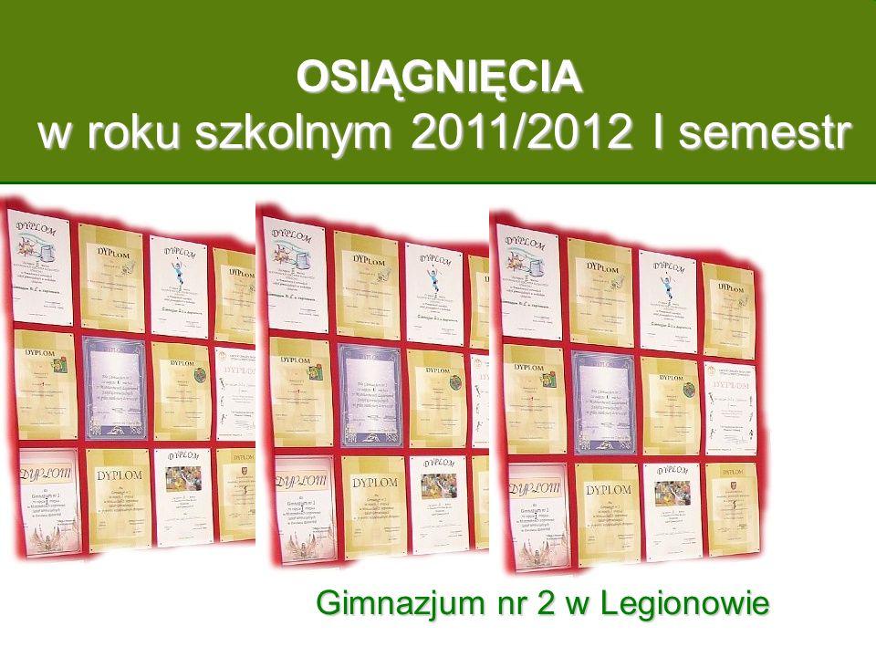 w roku szkolnym 2011/2012 I semestr