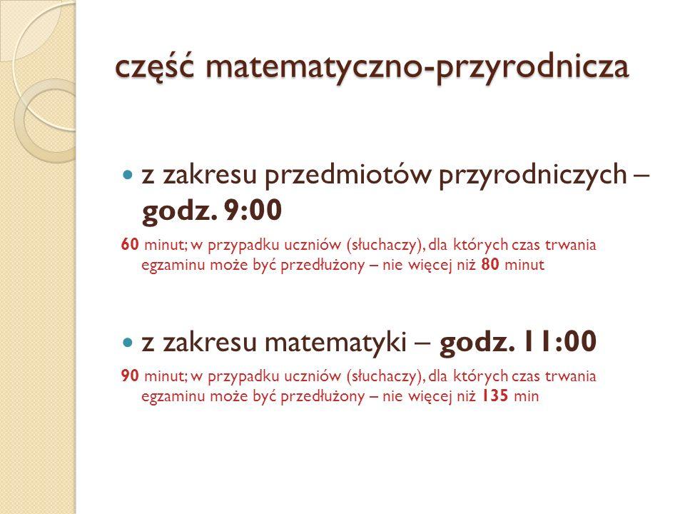 część matematyczno-przyrodnicza