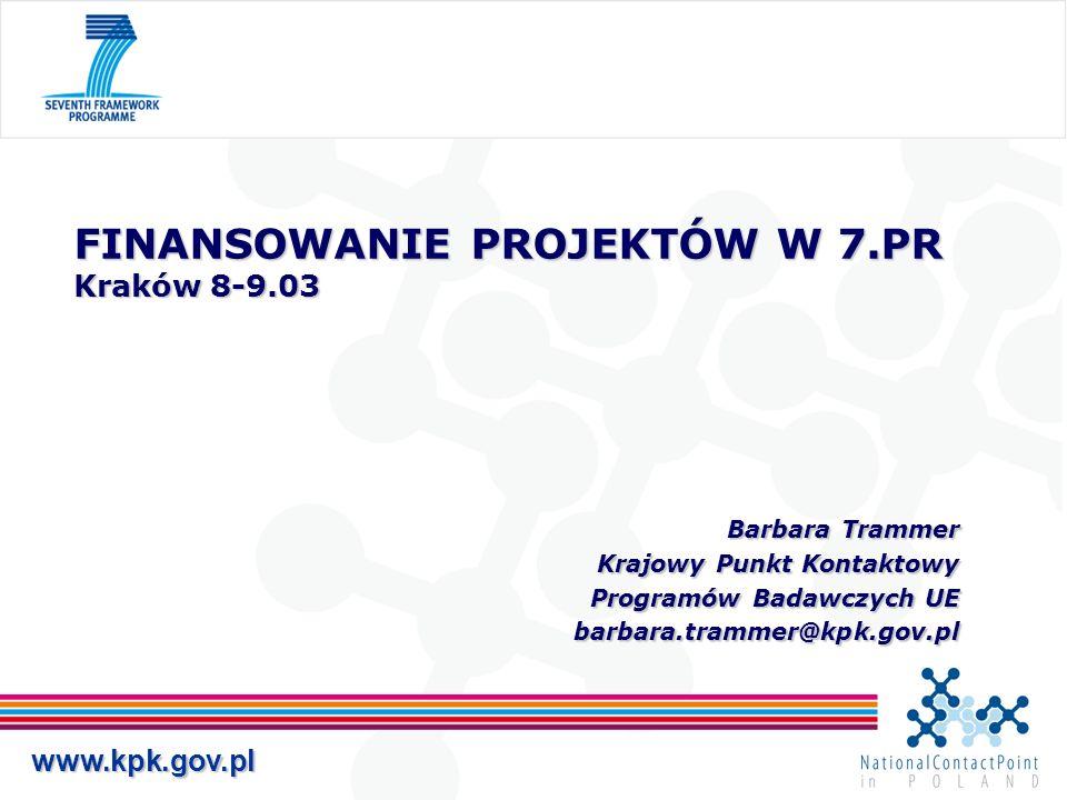 FINANSOWANIE PROJEKTÓW W 7.PR Kraków 8-9.03