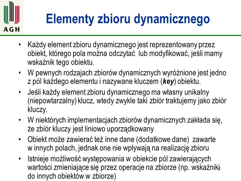Elementy zbioru dynamicznego