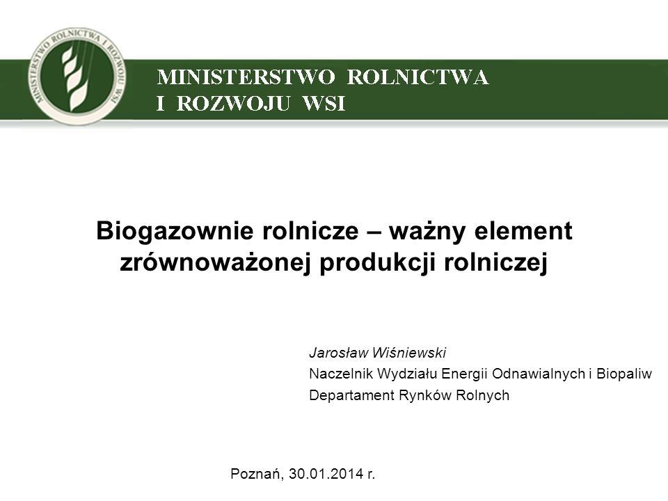 Biogazownie rolnicze – ważny element zrównoważonej produkcji rolniczej