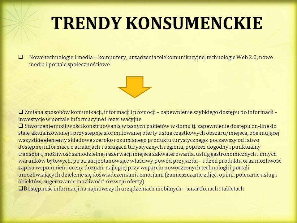 TRENDY KONSUMENCKIE Nowe technologie i media – komputery, urządzenia telekomunikacyjne, technologie Web 2.0, nowe media i portale społecznościowe.
