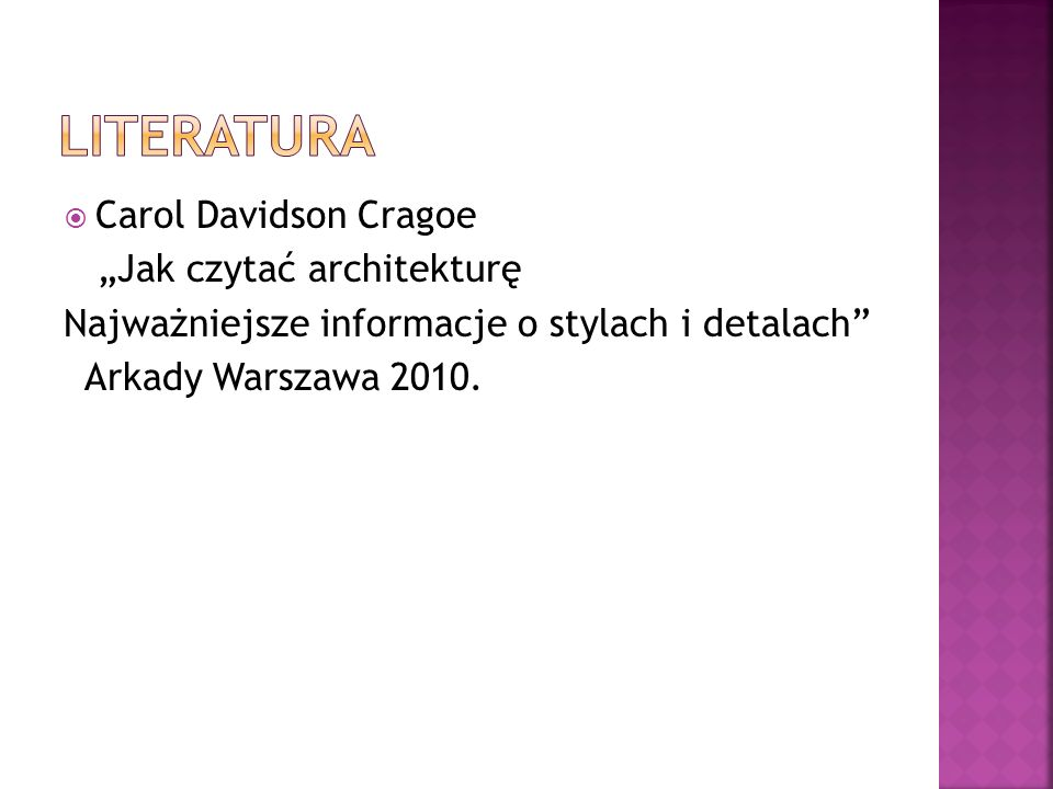 "LITERATURA Carol Davidson Cragoe ""Jak czytać architekturę"