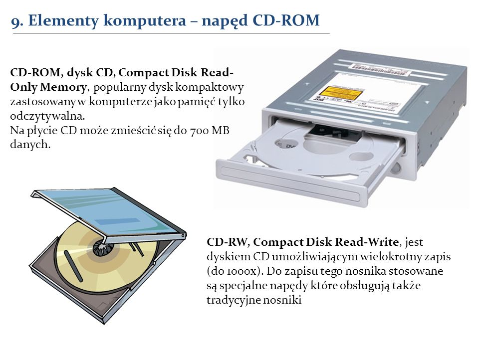 9. Elementy komputera – napęd CD-ROM