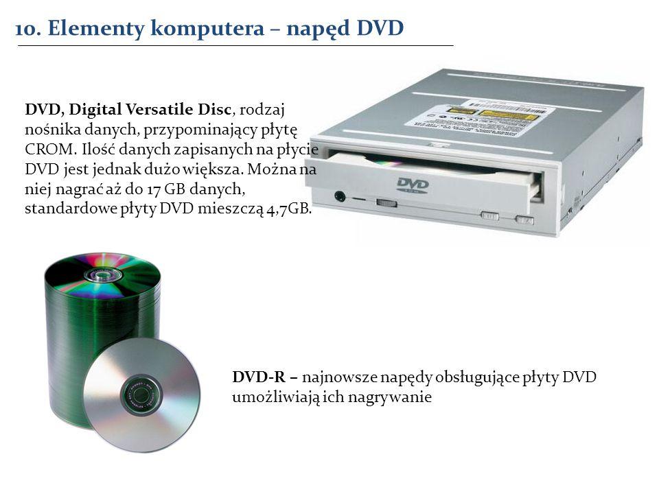 10. Elementy komputera – napęd DVD