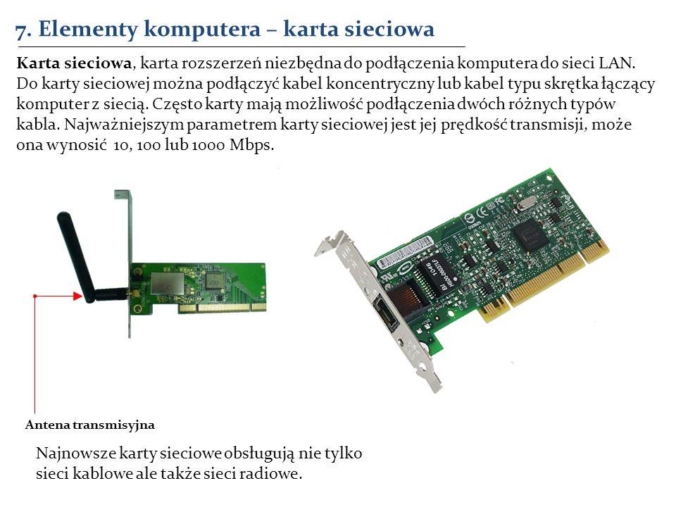 7. Elementy komputera – karta sieciowa