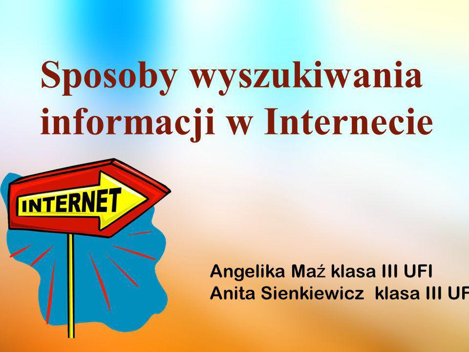 Sposoby wyszukiwania informacji w Internecie