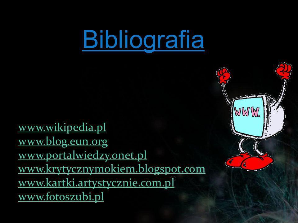 Bibliografia www.wikipedia.pl www.blog.eun.org