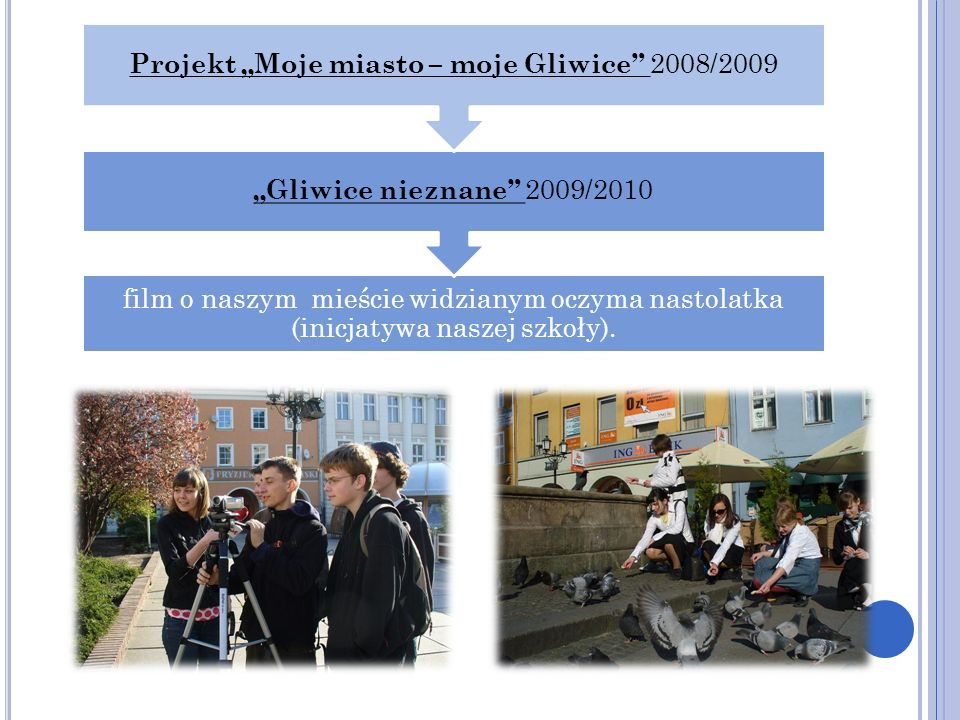 "Projekt ""Moje miasto – moje Gliwice 2008/2009"