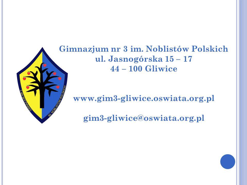 Gimnazjum nr 3 im. Noblistów Polskich