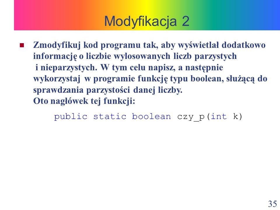 Modyfikacja 2