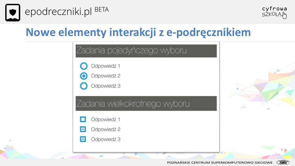 Nowe elementy interakcji z e-podręcznikiem