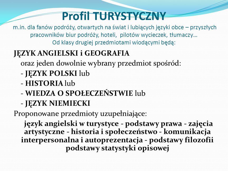 Profil TURYSTYCZNY m. in