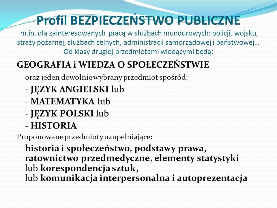Profil BEZPIECZEŃSTWO PUBLICZNE m. in