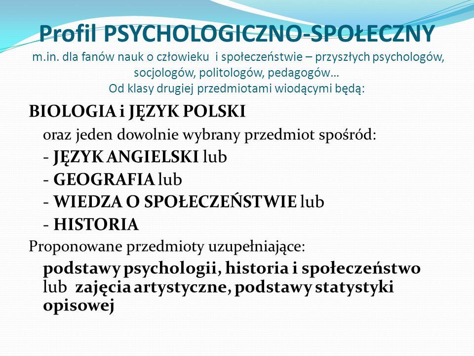 Profil PSYCHOLOGICZNO-SPOŁECZNY m. in