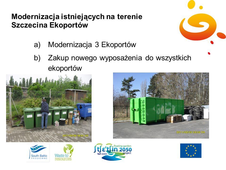 Modernizacja istniejących na terenie Szczecina Ekoportów