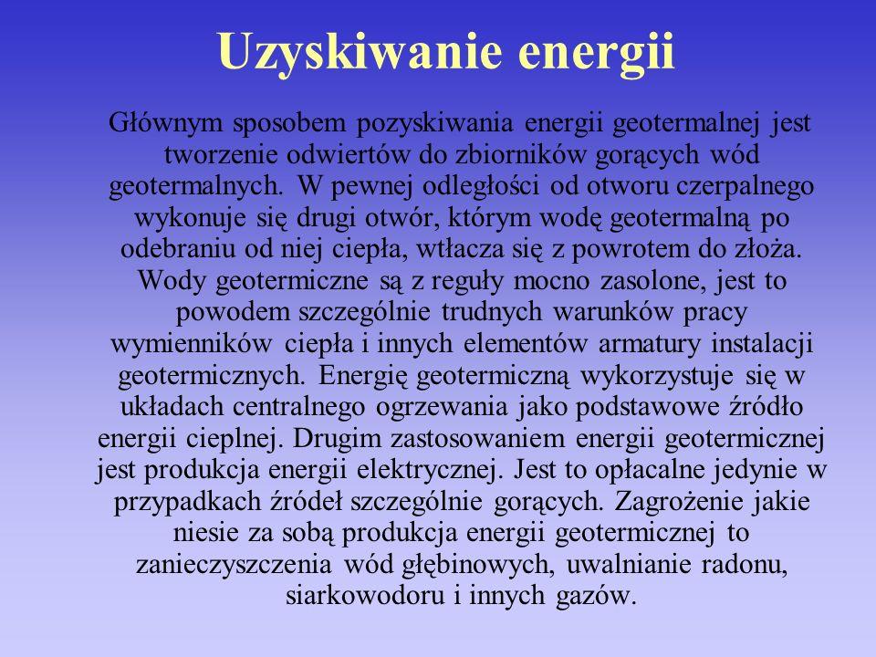 Uzyskiwanie energii