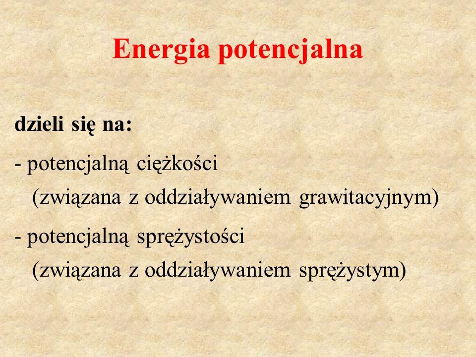 Energia potencjalna dzieli się na: