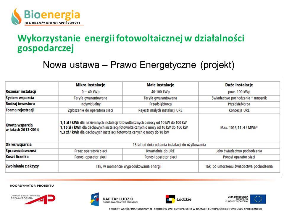 Nowa ustawa – Prawo Energetyczne (projekt)