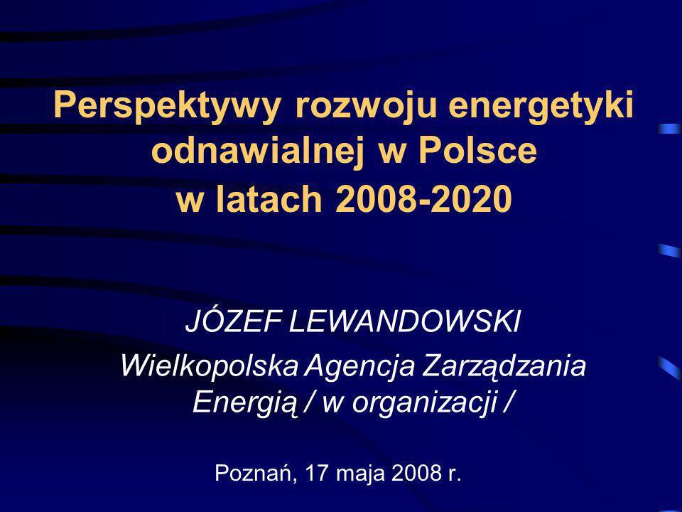 Perspektywy rozwoju energetyki odnawialnej w Polsce w latach 2008-2020