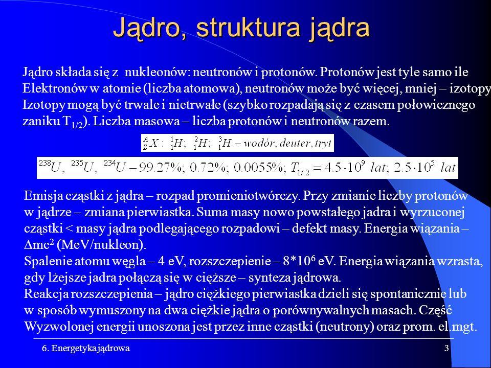 Jądro, struktura jądra Jądro składa się z nukleonów: neutronów i protonów. Protonów jest tyle samo ile.