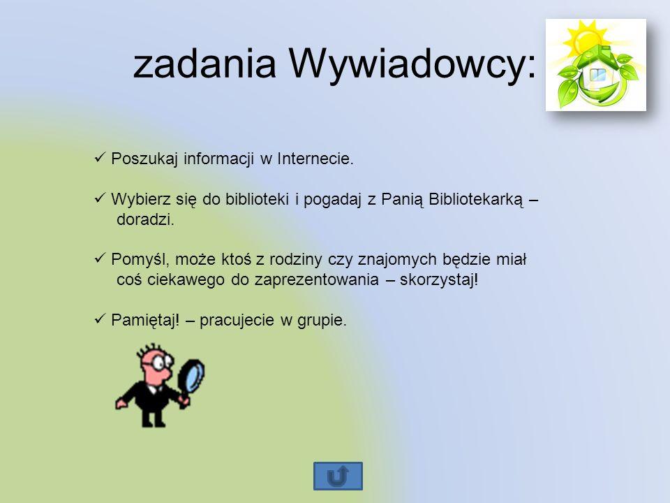 zadania Wywiadowcy: Poszukaj informacji w Internecie.