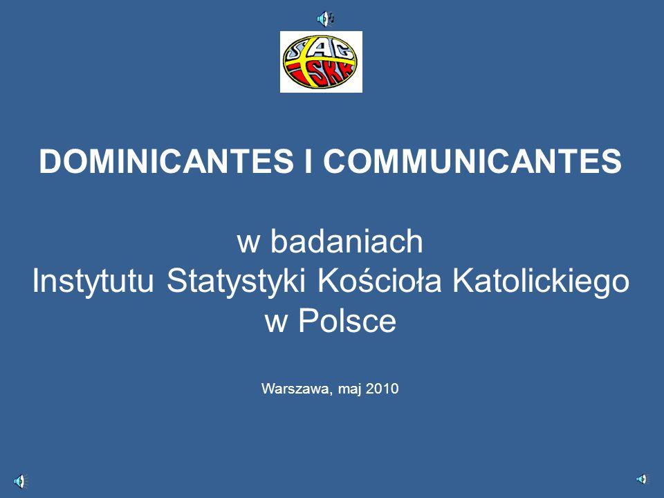 DOMINICANTES I COMMUNICANTES w badaniach Instytutu Statystyki Kościoła Katolickiego w Polsce Warszawa, maj 2010