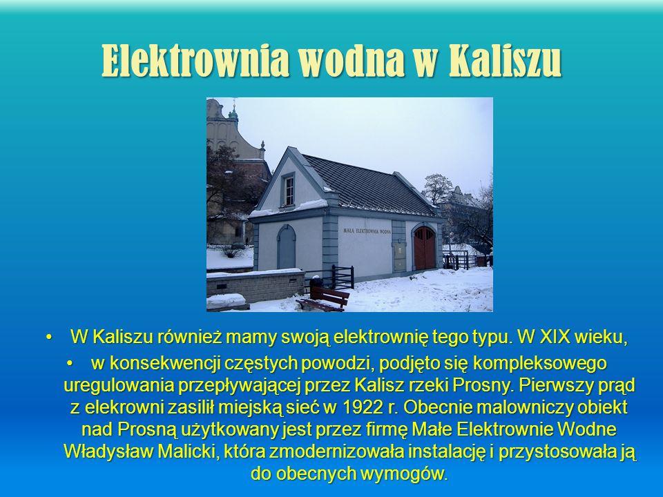 Elektrownia wodna w Kaliszu