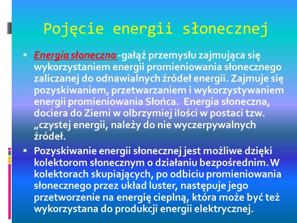 Pojęcie energii słonecznej