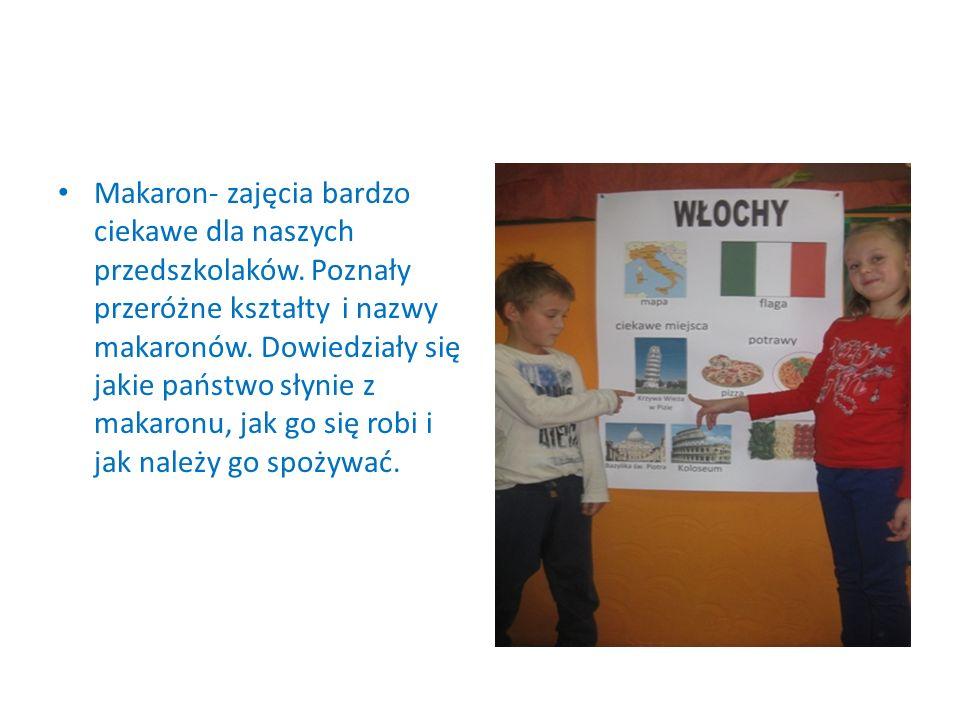 Makaron- zajęcia bardzo ciekawe dla naszych przedszkolaków