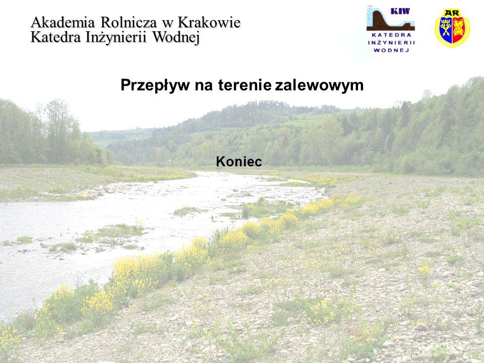 Przepływ na terenie zalewowym